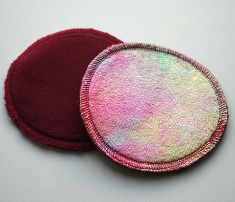 Hand Dyed Bamboo Velour Breast Pads