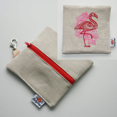 Special Embroidery Pad Pod - Flamingo