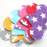 "7"" Cloth Panty Liner Set of 6 - ALL STARS - Lady Days Cloth Pads"