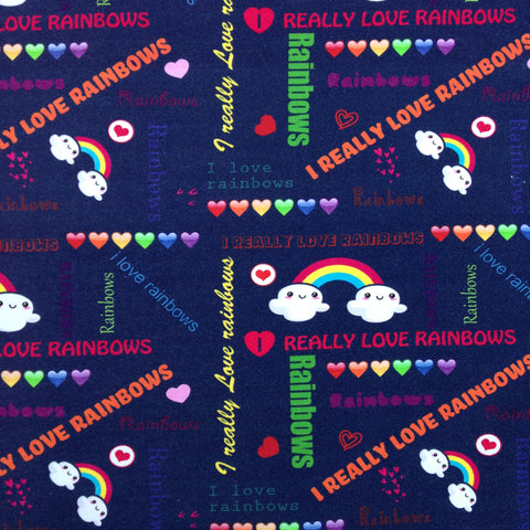Custom Order - I Love Rainbows - Lady Days Cloth Pads