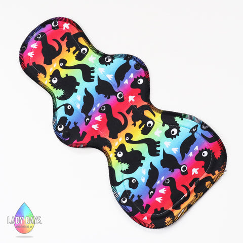 LADY DAYS CLOTH PADS SLEEPER NIGHT PAD RAINBOWSAURUS DESIGN