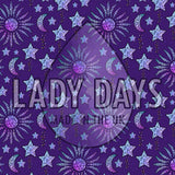 LADY DAYS REUSABLE CLOTH MENSTRUAL PAD CUSTOM MADE IN MOON AND STARS PRINT