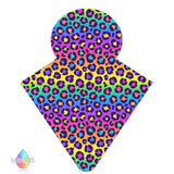 LADY DAYS REUSABLE CLOTH MENSTRUAL PAD CUSTOM MADE IN RAINBOW LEOPARD PRINT