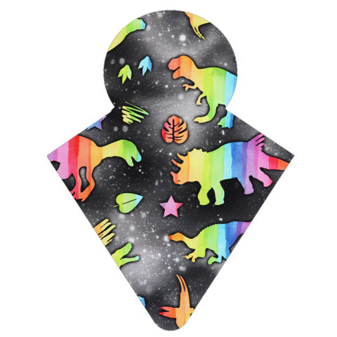 Custom Order - Dinosaur Rainbow on Black
