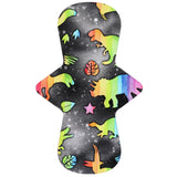 Custom Order - Dinosaur Rainbow on Black - Lady Days Cloth Pads