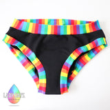 LADY DAYS PERIOD PANTS - RAINBOW BANDS