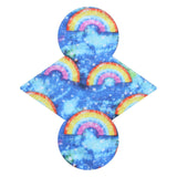 Custom Order - TOSSED RAINBOWS - Lady Days Cloth Pads