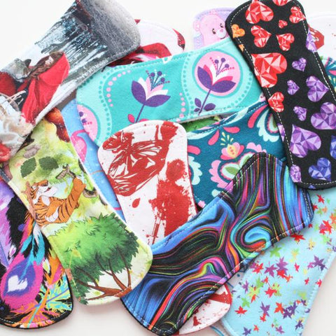 "6"" Wingless Liner - Surprise Design - Lady Days Cloth Pads"