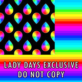 Lady Days Rainbow Blood Drop - Lady Days Cloth Pads
