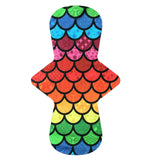 Custom Order - Rainbow Scales Large Print - Lady Days Cloth Pads