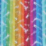 Custom Order - SPLATTER RAINBOW STRIPES - Lady Days Cloth Pads