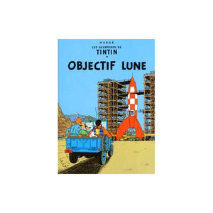 Affiche Tintin Objectif Lune