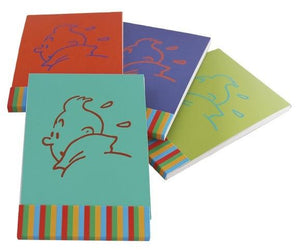 Ensemble de 4 carnets de notes Tintin