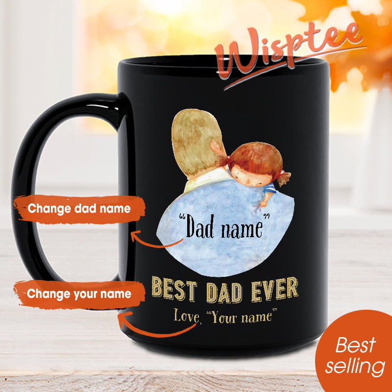 Personalized Gift for Fathers Day Fathers Day Gift from Daughter Custom Coffee Mug from Daughter Fathor Coffee Mug Gift