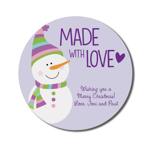 Made with Love Snowman