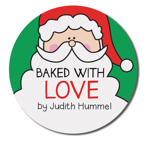 Baked with Love Santa Label