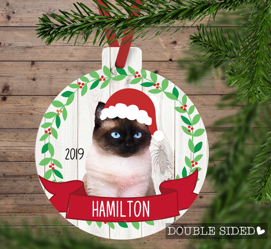 Cat Christmas Ornament (5 breeds)