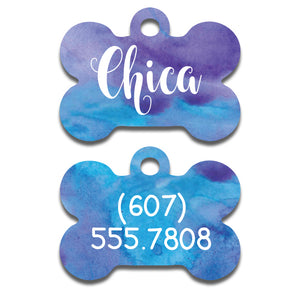 Blue Watercolor Tag
