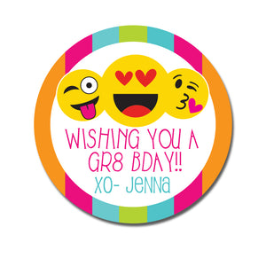 Emoji Birthday Sticker