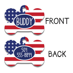 Patriotic Dog Tag