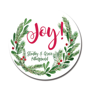 Joy Wreath Sticker