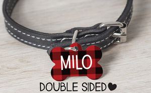 Red & Black Plaid Tag