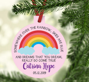 Rainbow Baby Girl Ornament
