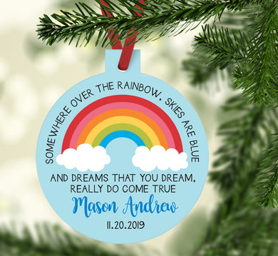 Rainbow Baby Boy Ornament