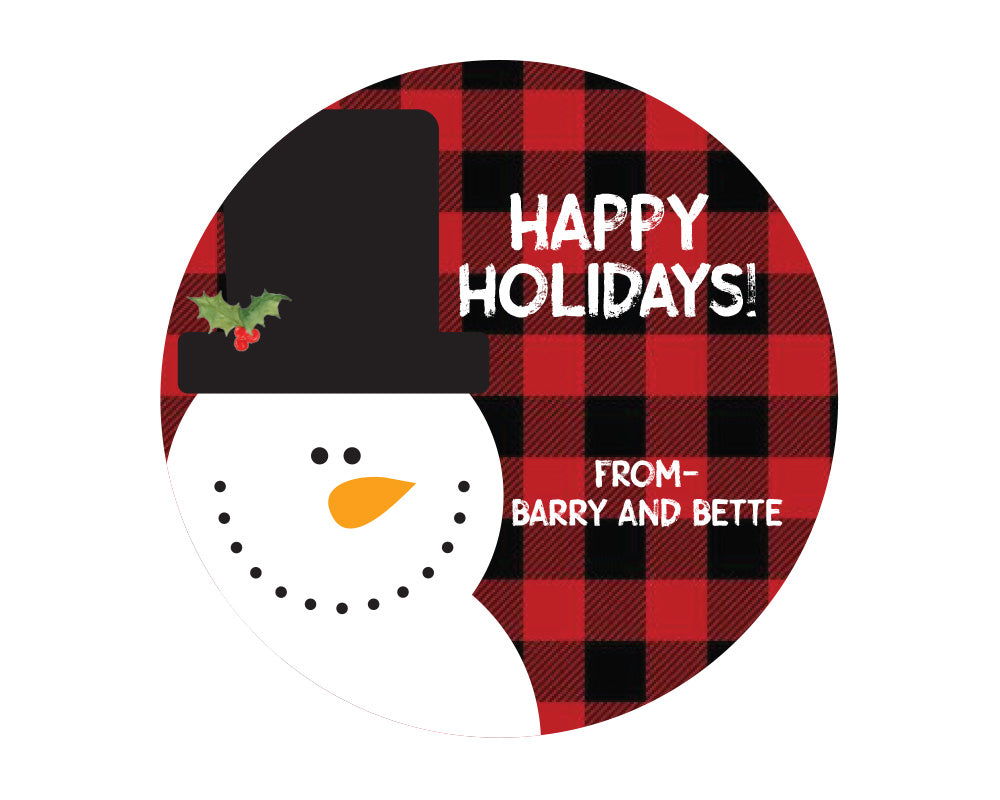Buffalo Plaid Snowman