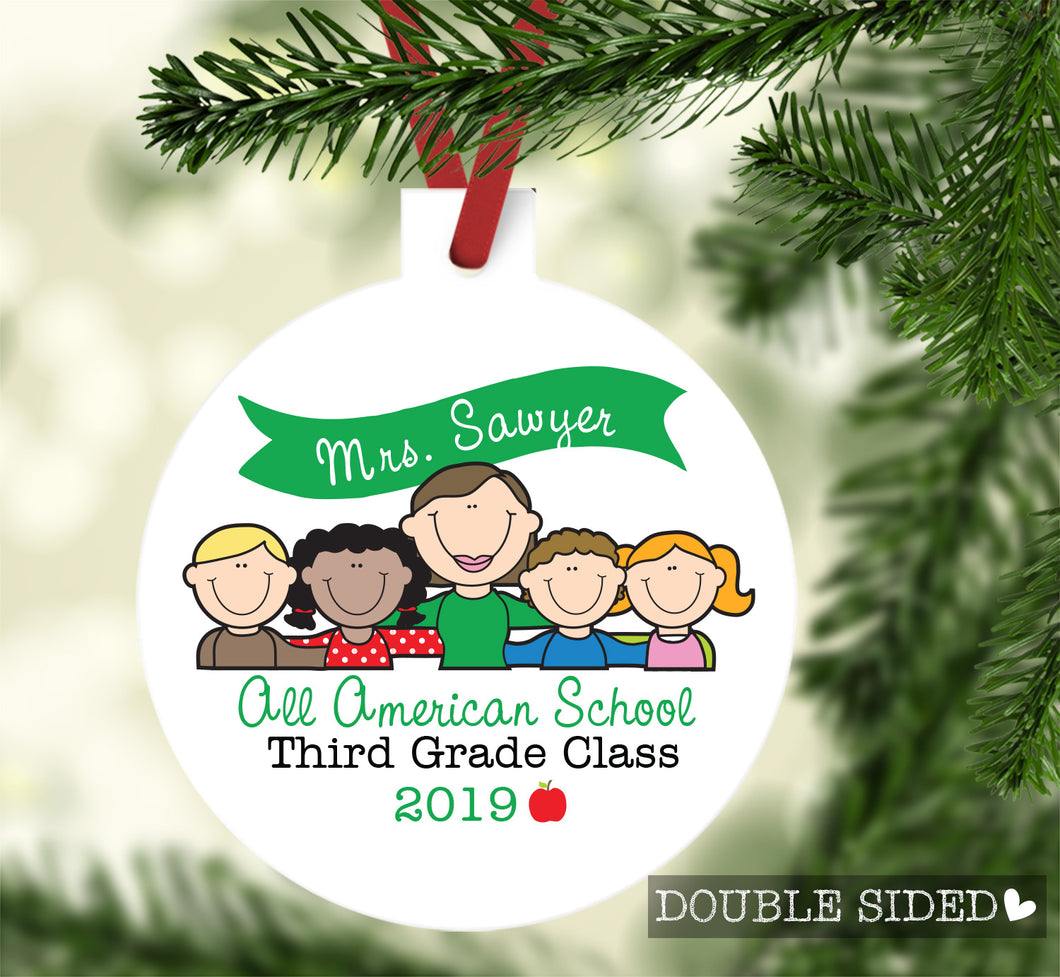 Teacher and Students Ornament