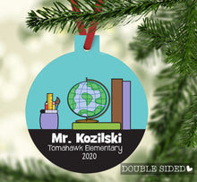 Load image into Gallery viewer, Teacher Christmas Ornament