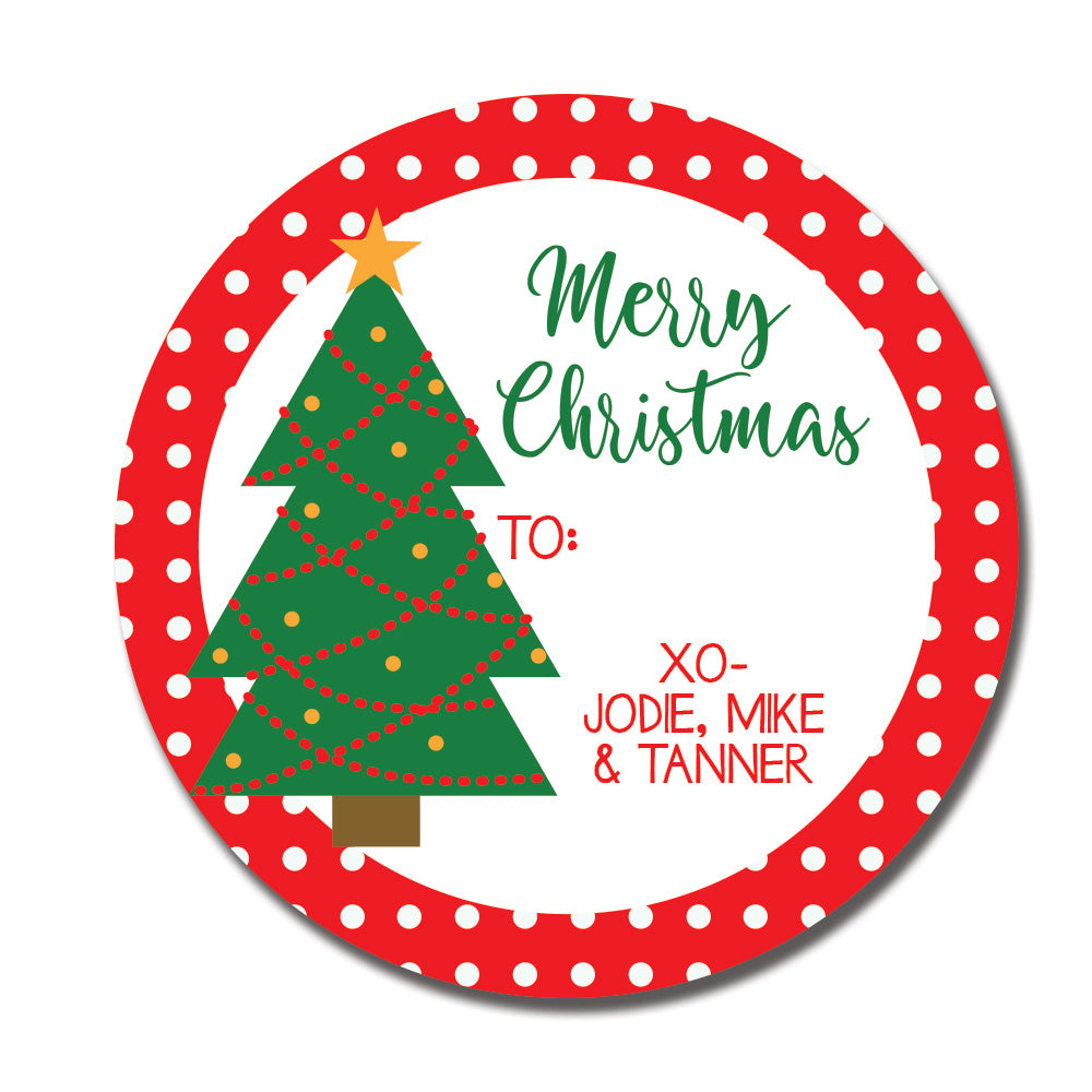 Christmas Tree Gift Label