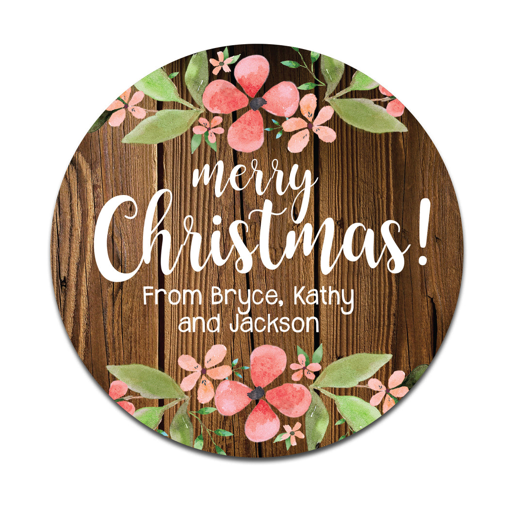 Rustic Floral Christmas