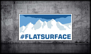 #FLATSURFACE Sticker