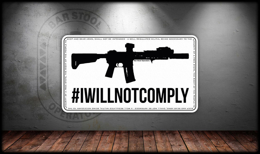 I Will Not Comply Sticker