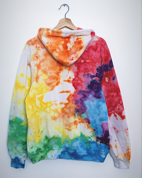 RAINBOW CONNECTION Tiedye Pullover Hoodie