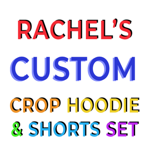 RACHEL'S CUSTOM RAINBOW Crop Hoodie and Shorts Set