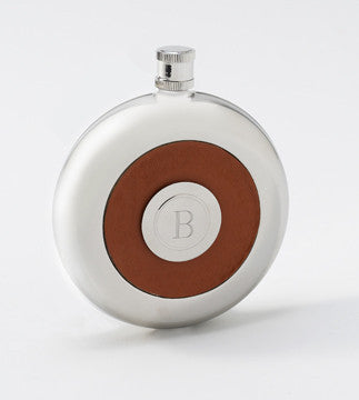 Round Flask w/Shot Glass