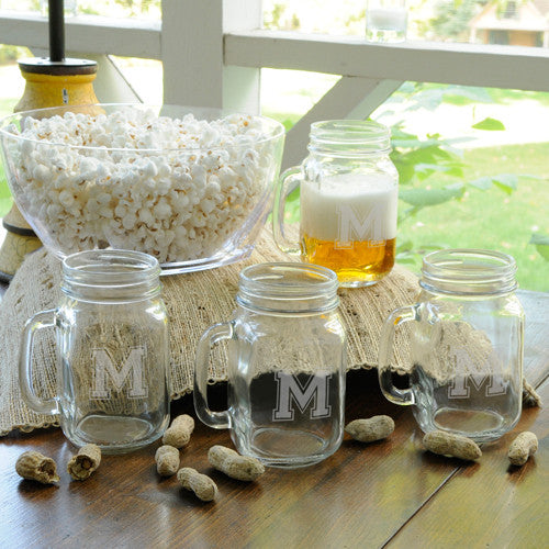 Collegiate Jar Glass Set of 4