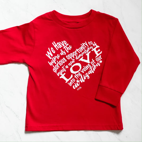 Toddler MLK shirt