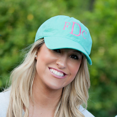Monogrammed Comfort Color Baseball Hat