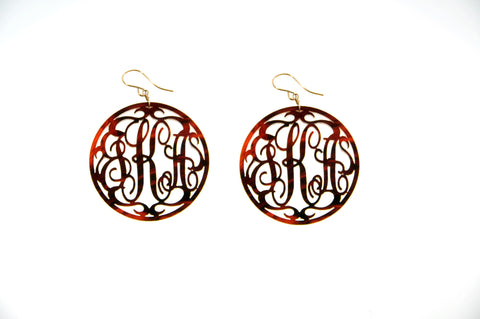 Paris Monogram Drop Earring