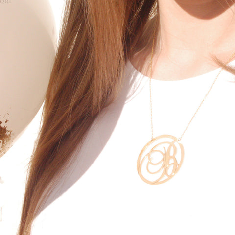 Beso Initial Necklace