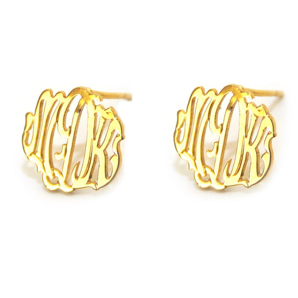 Monogram Post Earring