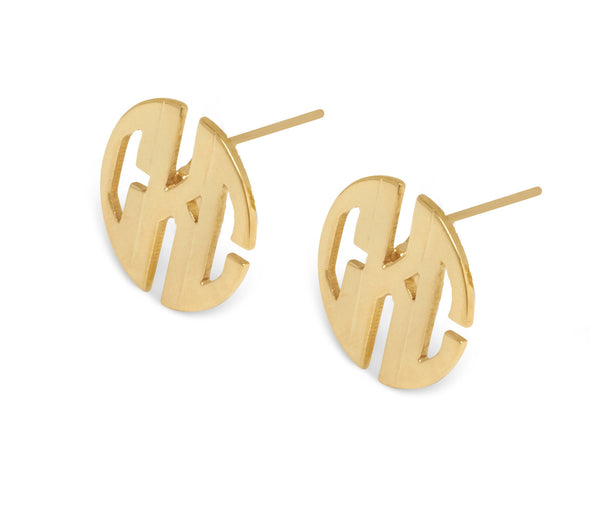 Monogram Post Earring - LARGE