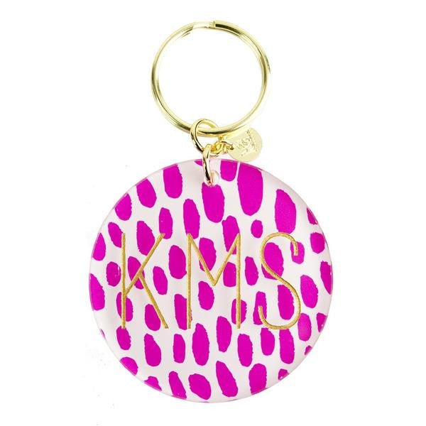 Patterned Block Keychain