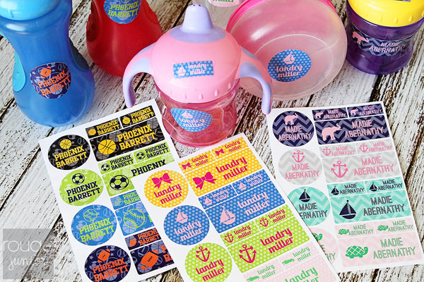 Polka Dot Waterproof Label Combo Set