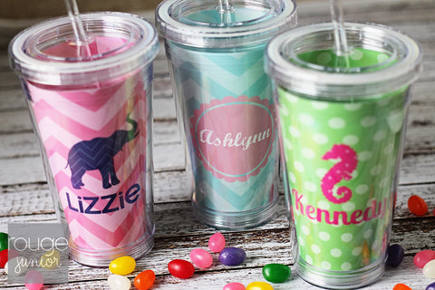 Personalized Acrylic Straw Tumber