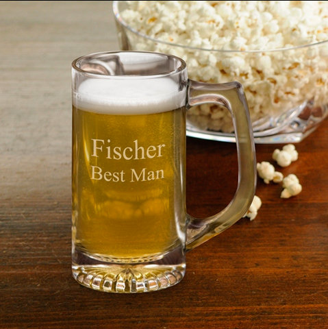 Wedding Beer Mug 12oz
