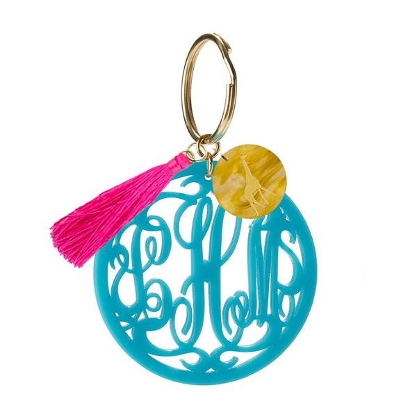 Rimmed Script Keychain